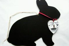 Rabbit Chalkboard by Pelo Design Chalkboard, Rabbit, Easter, Crafts, Design, Bunny, Rabbits, Manualidades, Bunnies