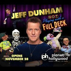 Jeff Dunham in Vegas Jeff Dunham, Planet Hollywood, Us Travel, Comedians, Las Vegas, Holidays, Vacations, Holidays Events, Last Vegas