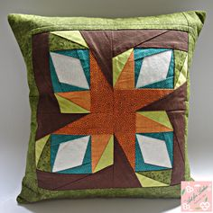 Pillow patchwork (paper piecing - foundation)