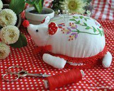 Charming handmade pincushion