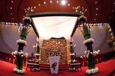 Stacked floral, cala lily Chuppah. Taken @ Temple Israel memphis