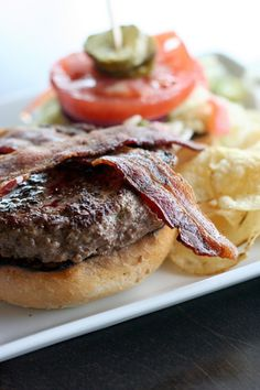 well done bacon cheeseburger