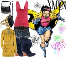 """Jubilee Xmen"" by thestrawberryfields ❤ liked on Polyvore"