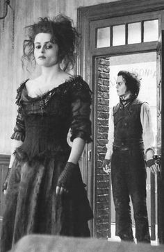 Hbc and Johnny on the set of Sweeny Todd <3