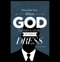 Pon una frase de Mad Men en tu vida | Blog de Factor ñ Cuando Dios Cierra una Puerta, Abre un Vestido