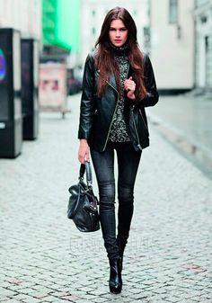 Современный стиль рок в женской одежде, обуви и аксессуарах