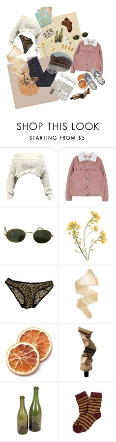 """Untitled #20"" by meloncholly ❤ liked on Polyvore featuring Ray-Ban, Forever 21, Wolford, Aesop, Avignon, Brooks Brothers and Cavallini & Co."