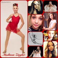 "My new Dance Moms girls collages. Look how much they have grown!! They are all so gorgeous. This is a Madison ""Maddie"" Ziegler collage. Credit to @hahaH0ll13"