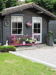 47 Incredible Backyard Storage Shed Design and Decor Ideas - - . - 47 Incredible Backyard Storage Shed Design and Decor Ideas – – - Backyard Storage Sheds, Backyard Sheds, Shed Storage, Garden Sheds, Shed Design, Garden Design, Casa Patio, Backyard Studio, Backyard Retreat