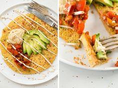 veganchickpeapancake   Jumbo Chickpea Pancake – A High Protein, Filling Vegan Breakfast or Lunch!