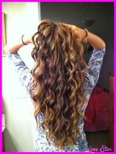 cool Beach wave perms for long hair