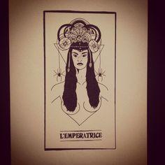 The empress tarot card illustration