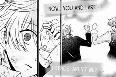 "Pandora Hearts gif-Elliot Nightray and Oz Vessalious ""Now...you and I are friends, aren't we?"" Part 2"