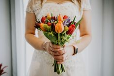 Portrait photography of bride holding bright and colourful bouquet of flowers on her wedding day. Taken in Manchester, North West England Photography Ideas, Portrait Photography, Wedding Photography, Wedding Bouquets, Wedding Flowers, North West, Weddingideas, Manchester, Amanda