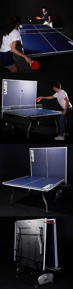 Tables 97075: Espn Tennis Table Cool Games For Kids Ping Pong Outdoor  Indoor 4 Piece