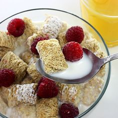Cereal tip: Buy brands with at least 5 grams of fiber per serving and less than 12 grams of sugar per serving.