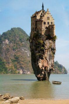 Castle House Island in Dublin, Ireland