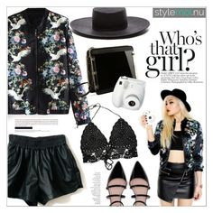 """StyleMoi"" by houseofhauteness ❤ liked on Polyvore featuring Janessa Leone, Polaroid, Zara and By Terry"