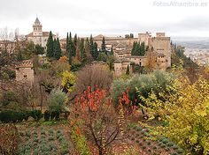 Another wrote: The Alhambra was so called because of its reddish walls (in Arabic, («qa'lat al-Hamra'» means Red Castle). It is located on top of the hill al-Sabika, on the left bank of the river Darro, to the west of the city of Granada, Spain.