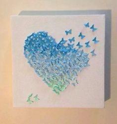 Tableau coeur de papillon