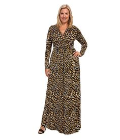 Rachel Pally Plus Plus Size L/S Full Caftan White Label Print Yarrow Python - Zappos.com Free Shipping BOTH Ways