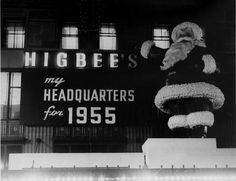 Higbee's Santa On top of Higbee Building- Euclid Ave.,Downtown Cleveland, Ohio