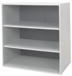 SCHULTE 7315300117 Go-Cabinet, Gray by Schulte. $156.29. From the Manufacturer                GO-Cabinets, short for Garage Organization Cabinets, are modular cabinets that are used in the home to create an organized space. The GO-Cabinets hang vertically within any garage space. Brackets allow GO-Cabinets to be mounted directly to uprights. GO-Cabinets are constructed of 5/8-Inch furniture grade melamine in a granite finish with two shelves and a black back co...