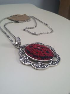 Hand made nicklace with the traditional Palestinian stitch work https://www.etsy.com/listing/224844981/beautiful-necklace-hand-made-with-the