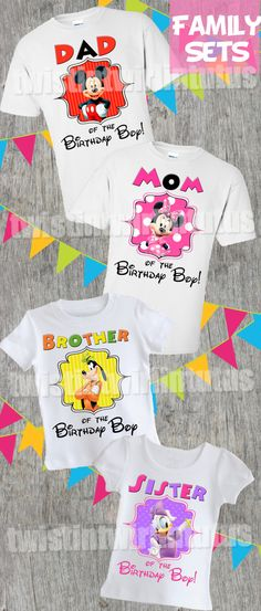 Mickey Mouse Clubhouse Birthday Shirt Family Set