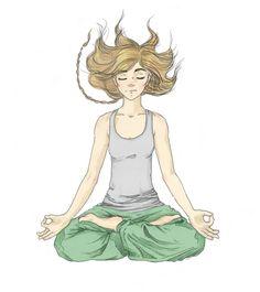 #meditation #yoga #inner #peace #silence #lifestyle  #gryzmoU #squiggle #illustration