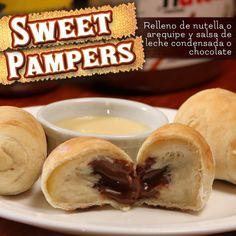 Deliciosos Sweet Pampers relleno de arequipe o nutella