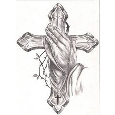 cross tattos on pinterest praying hands tattoo cross