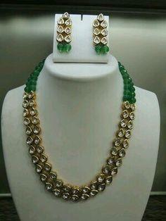 Emerald  kundan string