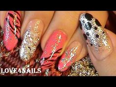 Bling Nails Using Pearls & Crystals - YouTube