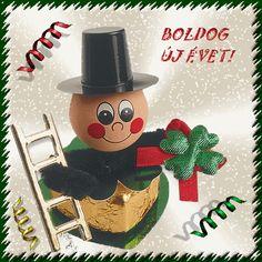 Újévi köszöntő Anul Nou, Happy New Year, Christmas Ornaments, Holiday Decor, January, Christmas Jewelry, Christmas Decorations, Happy New Year Wishes, Christmas Decor