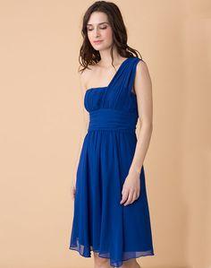 Robe bleue asymétrique Noémie