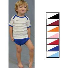Layettes Interlock Short Sleeve Lap-T/Diaper Cover