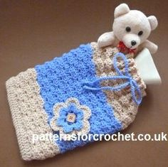 Hot Water Bottle Cover Free Crochet Pattern from Patterns for Crochet