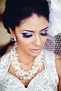 Purple smokey eyes, indian bridal makeup www.noorartistry.com