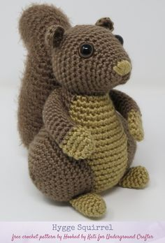 Hygge Squirrel, free crochet amigurumi pattern by Hooked by Kati for Underground. - Wiezu : Hygge Squirrel, free crochet amigurumi pattern by Hooked by Kati for Underground… – Crochet Animal Amigurumi, Crochet Animal Patterns, Stuffed Animal Patterns, Amigurumi Patterns, Amigurumi Doll, Crochet Dolls, Crochet Animals, Knitted Stuffed Animals, Crochet Gifts