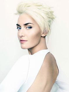 Kate Winslet with platinum blonde hair