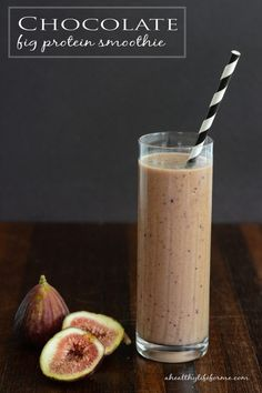 Chocolate Fig Protein Smoothie | ahealthylifeforme.com