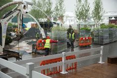 The planting is now under-way at the Stoke-on-Trent Chelsea show garden for 2014