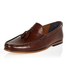 f36d2e04b0d Dark brown leather tassel loafers - loafers - shoes   boots - men Loafer  Shoes
