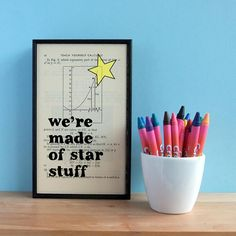 Items similar to Carl Sagan Star Stuff Inspirational Quote Altered Book Typographic Art on Etsy Art Quotes, Love Quotes, Inspirational Quotes, Quote Art, Calculus Textbook, Carl Sagan Cosmos, Hand Drawn Fonts, Old Book Pages, Altered Books