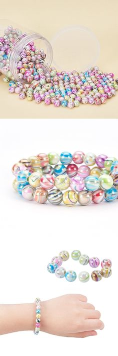 NEW DIY 18mm multicolour Acrylic Heart Pearl Loose Beads Jewelry Making