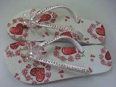 Resultado de imagem para chinelos decorados com fita de cetim trançada passo a passo