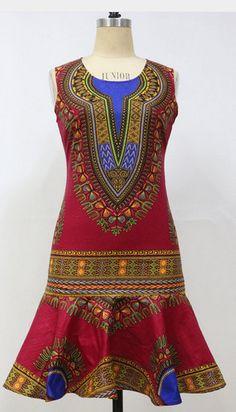 Cire dankara dashiki robe imprimé africain par UrbaneAfrican Short African Dresses, African Print Dresses, African Print Fashion, Africa Fashion, African Fashion Dresses, Ethnic Fashion, African Outfits, African Prints, Dashiki Dress