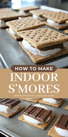 Do you want s'mores anytime of the year? Here is an easy way to make s'more any time you want and they come out perfectly everytime! #smores #ilovesmores #easytreat Camping Crafts For Kids, Homemaking, Food Pictures, Yummy Treats, Cooking Tips, Oven, Food And Drink, Tasty, Baking