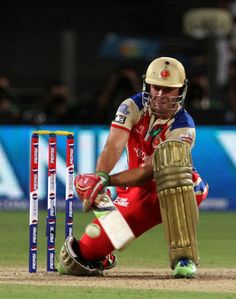 AB de Villiers played a series of outrageous strokes to help Royal Challengers Bangalore beat Pune Warriors by 17 runs